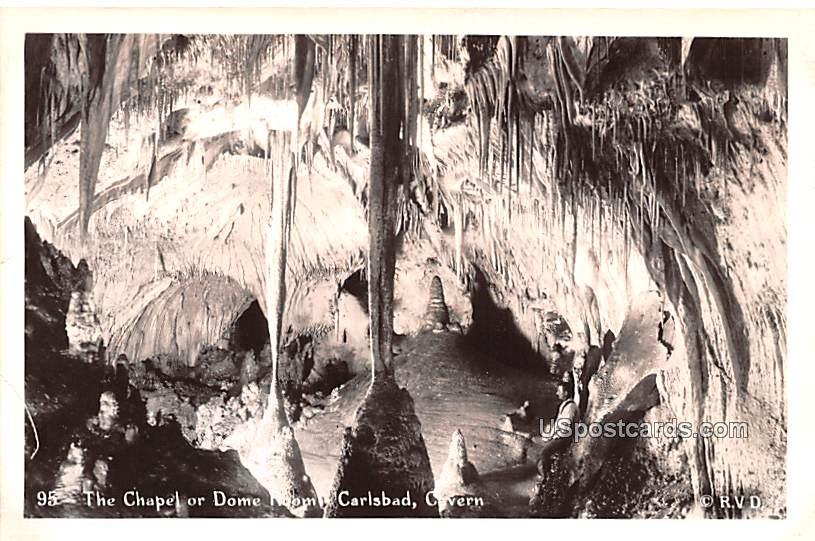 The Chapel or Dome Room - Carlsbad Caverns, New Mexico NM Postcard