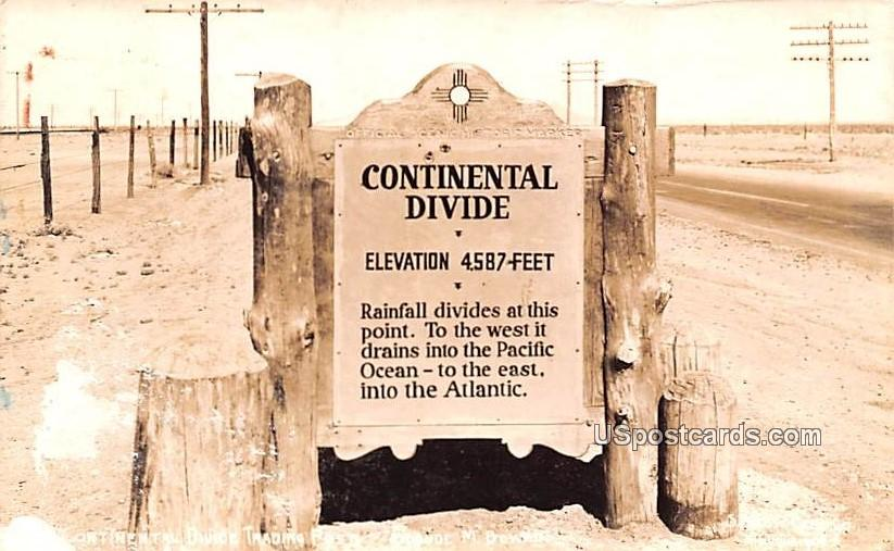 Continental Divide Trading Post - Gage, New Mexico NM Postcard