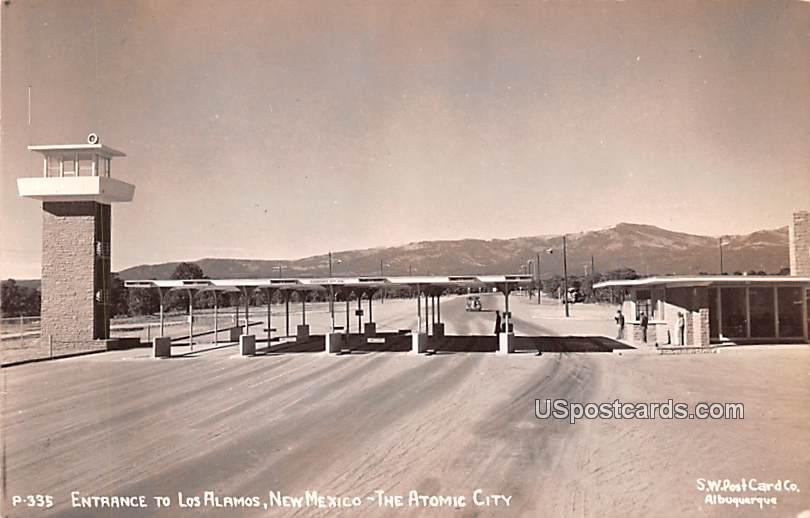 Entrance - Los Alamos, New Mexico NM Postcard