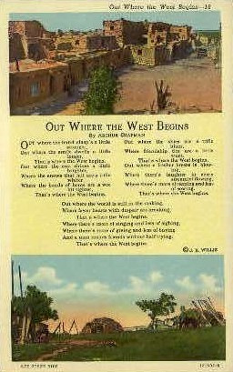 Out Where the West Begins - Misc, New Mexico NM Postcard