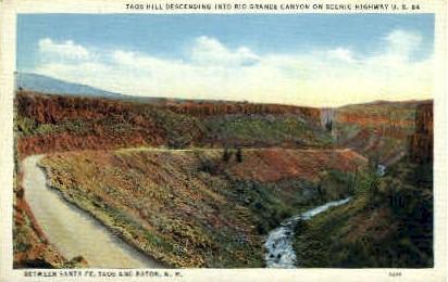 Rio Grande Canyon - Raton, New Mexico NM Postcard