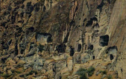 Cave Dwellings - Puye, New Mexico NM Postcard