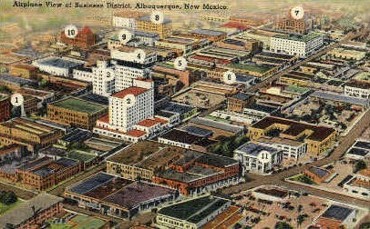 Business District - Albuquerque, New Mexico NM Postcard