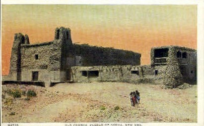 Old Church - Pueblo of Acoma, New Mexico NM Postcard