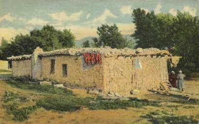Mud Hut - Misc, New Mexico NM Postcard