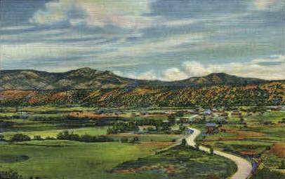 Sangre de Cristo Montains - Raton, New Mexico NM Postcard