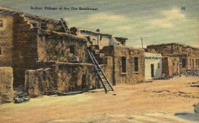 Indian Village - Misc, New Mexico NM Postcard