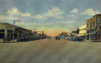 Broadway - Hobbs, New Mexico NM Postcard