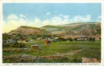 Raton Pass - New Mexico NM Postcard