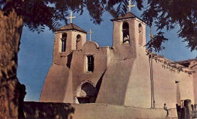 St. Francis D'Assisi Mission - Taos, New Mexico NM Postcard