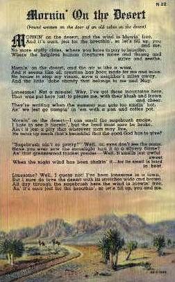 Mornin' on the Desert - Misc, New Mexico NM Postcard