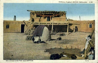 Pueblo Indian Dwelling - Misc, New Mexico NM Postcard