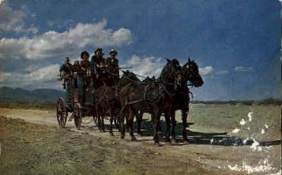 The Old Stagecoach of the West - Misc, New Mexico NM Postcard