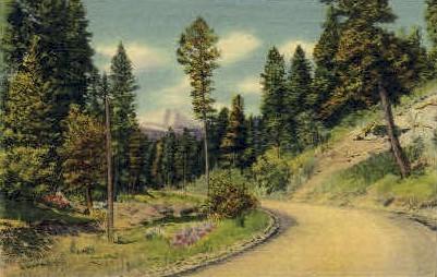Dark Canyon Road - Alamogordo, New Mexico NM Postcard