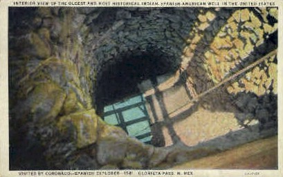 The Oldest & Most Historical Well - Glorieta Pass, New Mexico NM Postcard