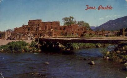 Taos Creek - Taos Pueblo, New Mexico NM Postcard