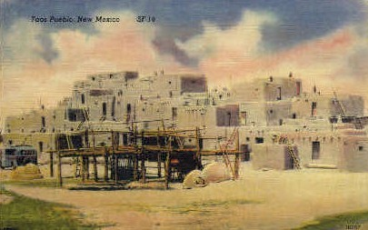 Taos Pueblo, New Mexico, NM Postcard