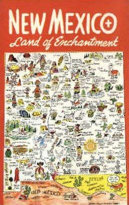 Land of Enchantment - Misc, New Mexico NM Postcard