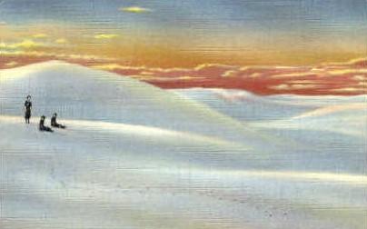 Sunset on the White Sands - Alamogordo, New Mexico NM Postcard