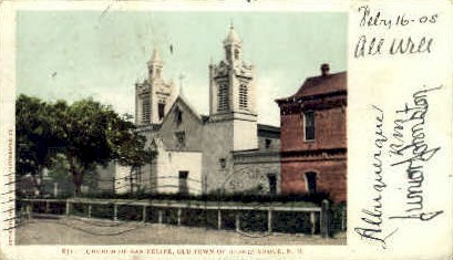 Church of San Felipe   - Albuquerque, New Mexico NM Postcard