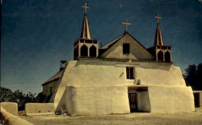 Isleta Mission - Albuquerque, New Mexico NM Postcard