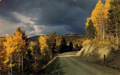 Aspen Time - Misc, New Mexico NM Postcard