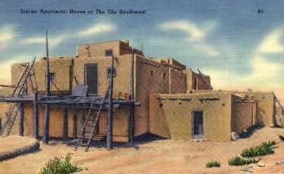 Indian Apartment House  - Misc, New Mexico NM Postcard