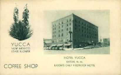 Hotel Yucca - Raton, New Mexico NM Postcard