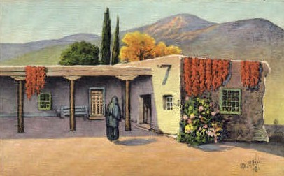 Quaint Mexican Home - Misc, New Mexico NM Postcard
