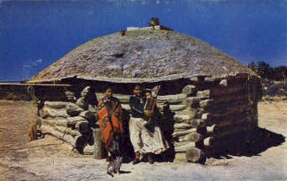 Navajo Indians & Their Hogan - Misc, New Mexico NM Postcard