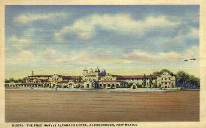 The Fred Harvey-Alvarado Hotel - Albuquerque, New Mexico NM Postcard