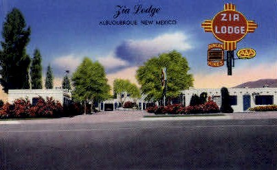 Zia Lodge - Albuquerque, New Mexico NM Postcard