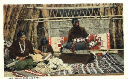 How Navajo Rugs are Made - Misc, New Mexico NM Postcard