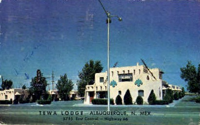 Tewa Lodge - Albuquerque, New Mexico NM Postcard
