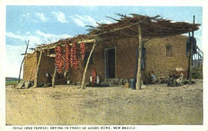 Chili Drying - Misc, New Mexico NM Postcard