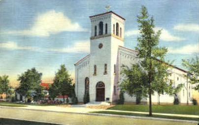 St. Charles & Rectory - Albuquerque, New Mexico NM Postcard