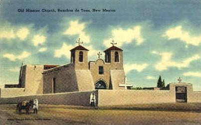 Old Mission Church - Ranchos de Taos, New Mexico NM Postcard