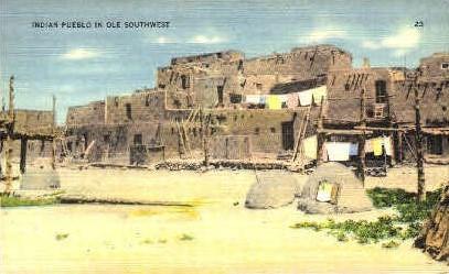 Indian Pueblo - Misc, New Mexico NM Postcard