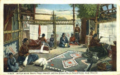 Indian Work Room - Albuquerque, New Mexico NM Postcard