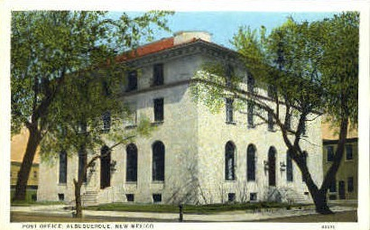 Post Office - Albuquerque, New Mexico NM Postcard