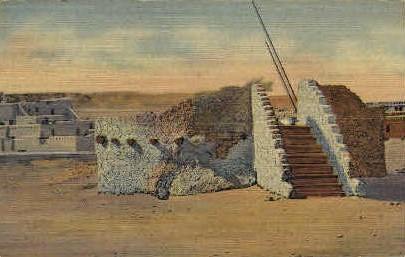 Pueblo Indian Estufa or Kiva - Misc, New Mexico NM Postcard