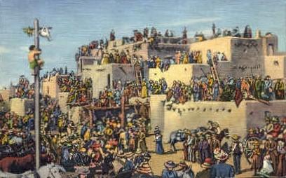 Feast of San Geronimo - Taos Pueblo, New Mexico NM Postcard