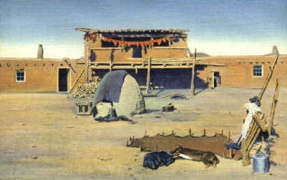 Indian Dwelling - Misc, New Mexico NM Postcard