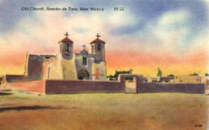 Old Church - Ranchos de Taos, New Mexico NM Postcard