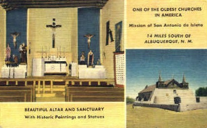 Mission of San Antonio de Isleta - Albuquerque, New Mexico NM Postcard