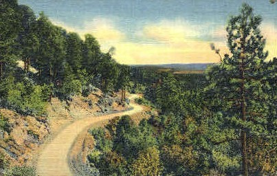 Sandia Loop Road - Albuquerque, New Mexico NM Postcard