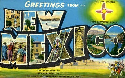 Greetings From - Misc, New Mexico NM Postcard
