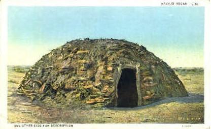 Navajo Hogan - Misc, New Mexico NM Postcard