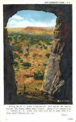 Kit Carson Cave - Gallup, New Mexico NM Postcard