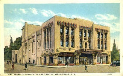 Americas Foremost Indian Theatre - Albuquerque, New Mexico NM Postcard